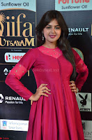 Monal Gajjar in Maroon Gown Stunning Cute Beauty at IIFA Utsavam Awards 2017 021.JPG