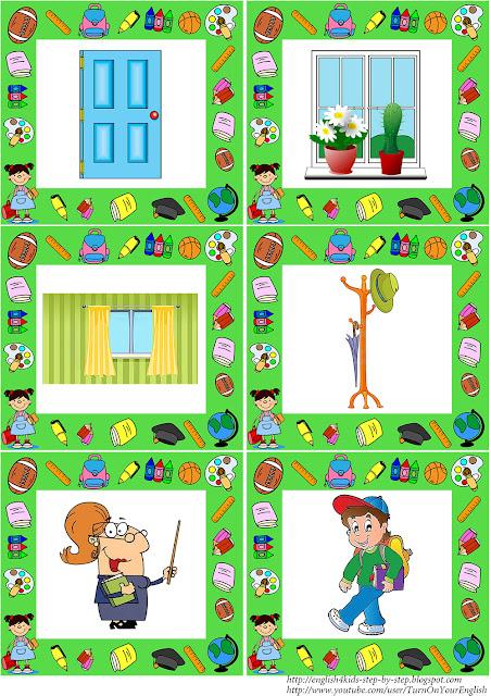 primary school vocabulary flashcards