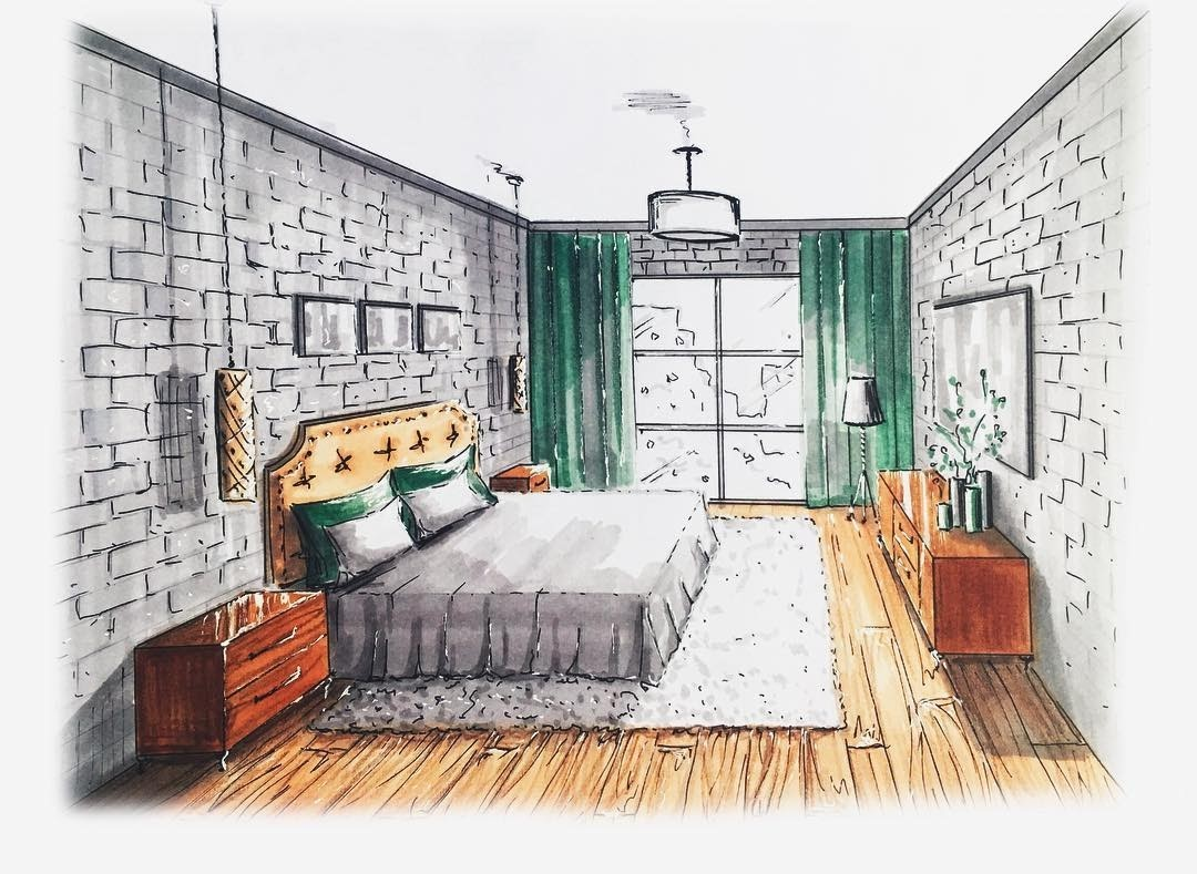 04-Guest-Bedroom-Natalia-Pristenskaya-Дизайнер-интерьеров-Interior-Design-Sketches-www-designstack-co