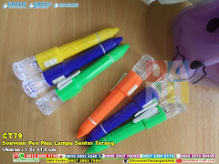 Souvenir Pen Plus Lampu Senter Terang