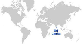 Gambar Peta letak Sri Lanka