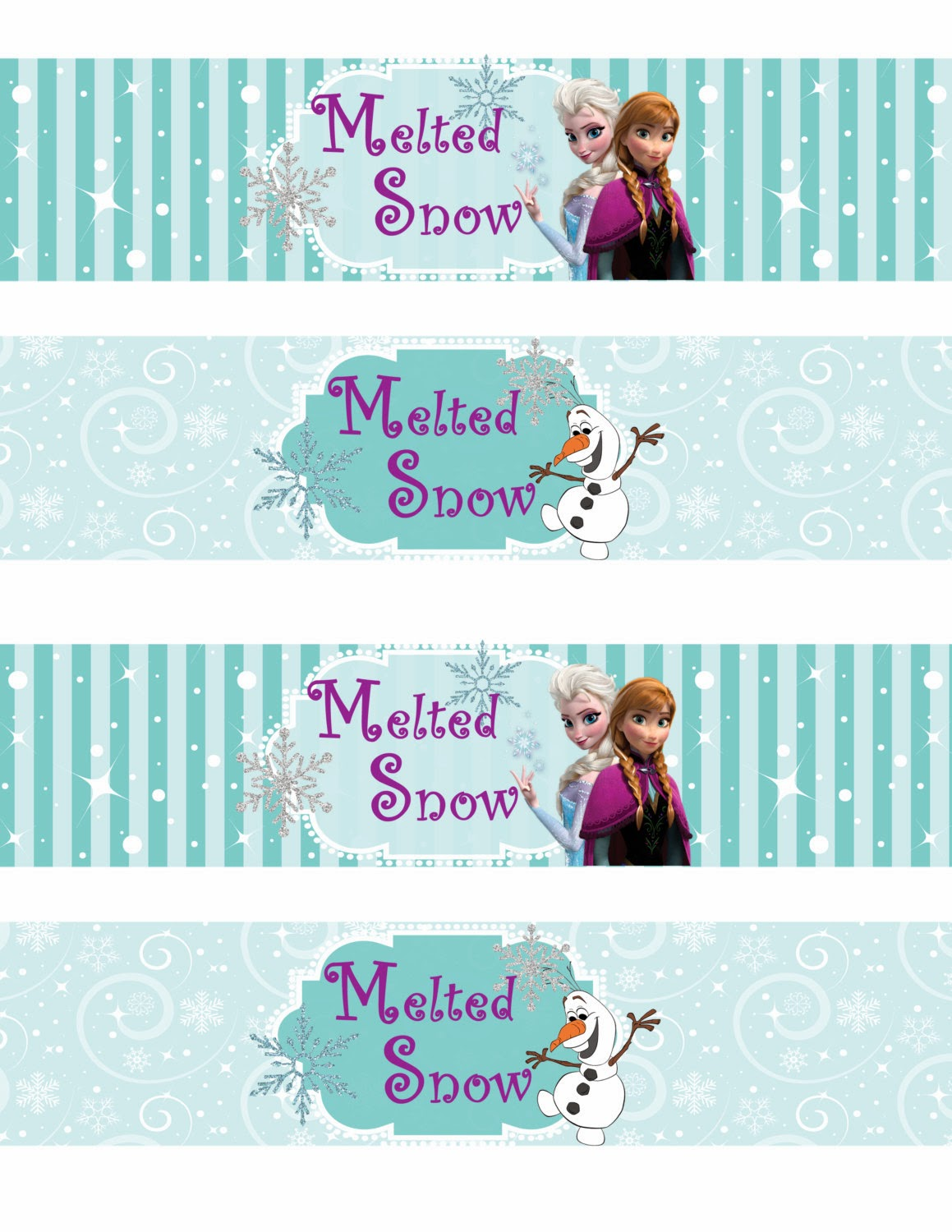 photo about Frozen Party Food Labels Free Printable identified as Cost-free Printable Frozen Labels. - Oh My Fiesta! within english