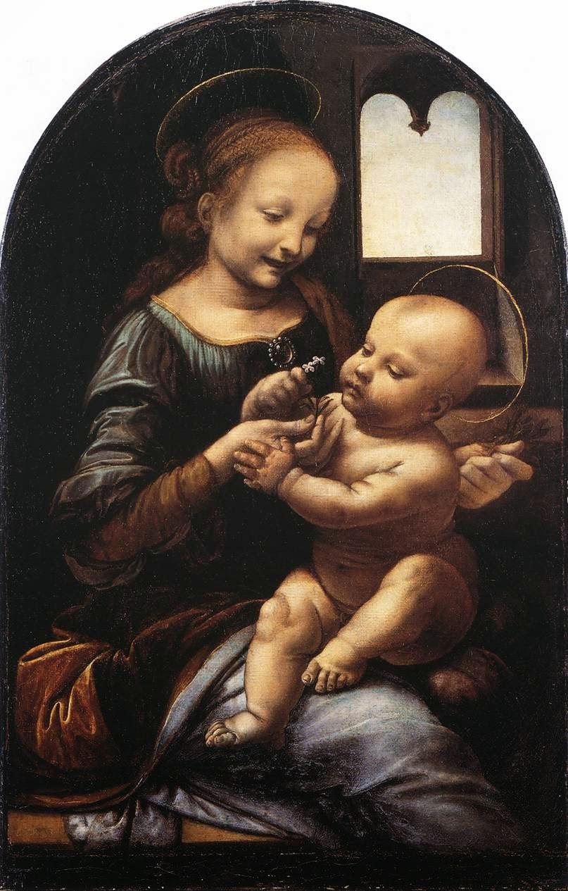 Madona com Flor - Leonardo Da Vinci | O maior artista de todos os tempos