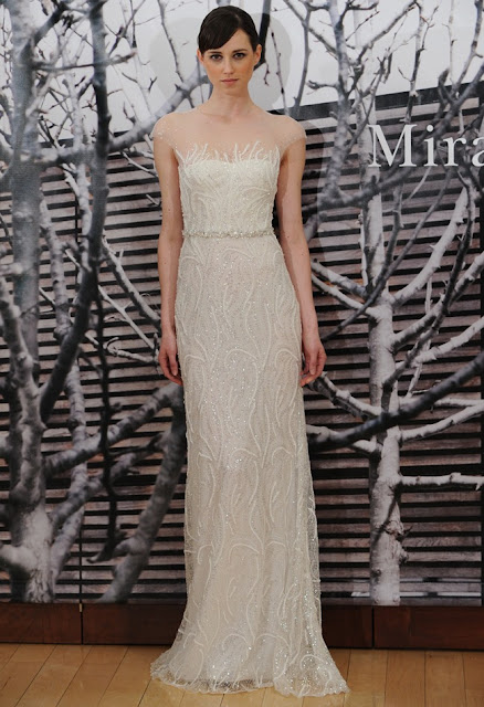 vestidos de novia sencillos con pedreria