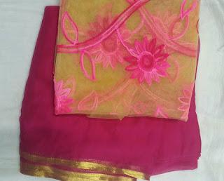 pink_chiffon_sari