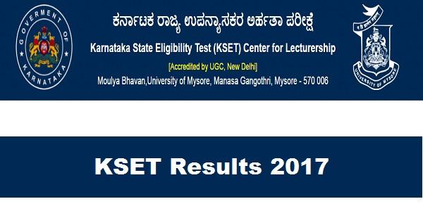 KSET Results 2017