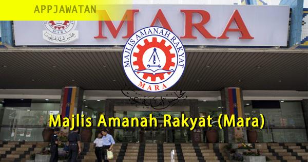 Permohonan jawatan kosong di Majlis Amanah Rakyat (Mara)