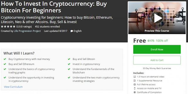 [100% Off] How To Invest In Cryptocurrency: Buy Bitcoin For Beginners| Worth 175$