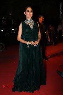 Actress Pragya Jaiswal Stills in Green Long Dress at Gemini TV Puraskaralu 2016 Event  0099.JPG