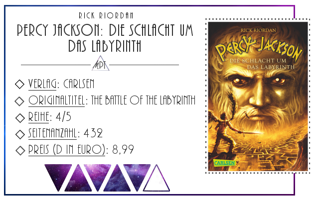 [Rezension] Percy Jackson: Die Schlacht um das Labyrinth - Rick Riordan