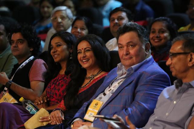 Tanishtha Chatterjee, Divya Dutta, Rishi Kapoor, Sanjay Gupt during the inauguration of 8th Jagran Film Festival in Delhi
