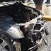 Se incendia yipeta frente a la Procuraduría General de la República