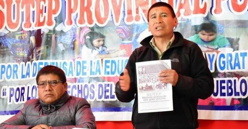 Profesores del SUTEP iniciarán paro indefinido el 20 de junio en la región Puno