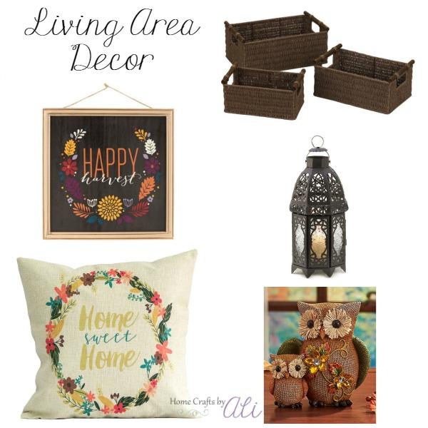 fall decor shopping indoor baskets art lantern