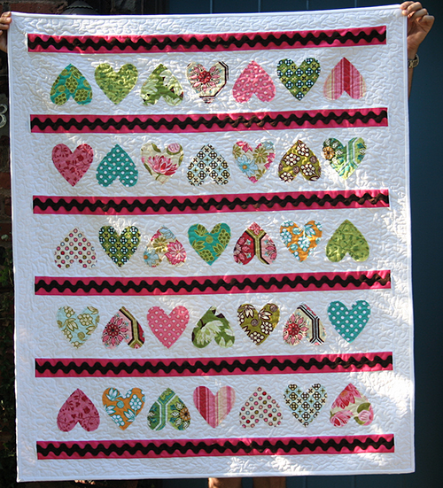 Candy Hearts Quilt  Pattern designed by Amber Johnson