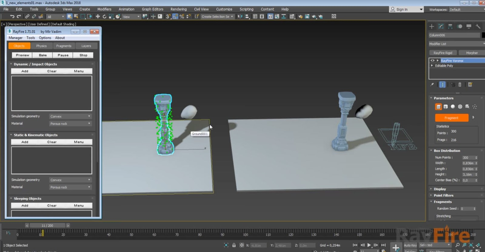 RayFire Old (1 71) vs New (1 81) dynamic simulation workflow | CG