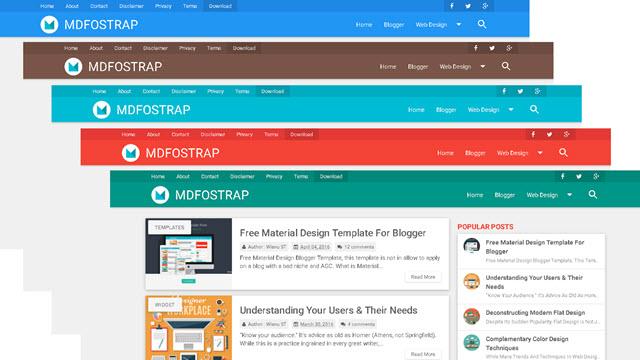 MDFOSTRAP Blogger Template Material Design