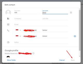Cara Mengganti Nama Contact Email di Gmail