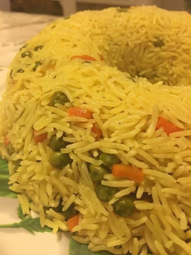طريقة عمل :: ارز بالبسله والجزر