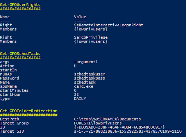 Grouper - A PowerShell script for helping to find vulnerable settings in AD Group Policy