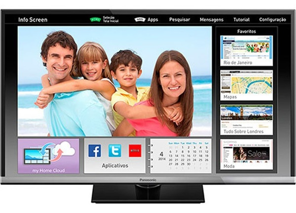 Smart TV Panasonic tem qualidade de imagem HD com 32 polegadas
