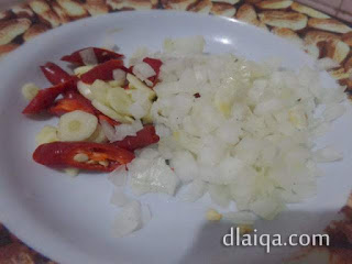 cabe, bawang putih, bawang bombay