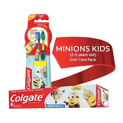 Colgate Minions Kids 2-5 Years Old (Junior) Oral Care Pack: