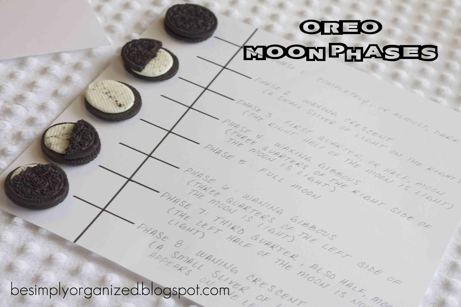 fun summer kid activity: oreo moon phases - simply organized