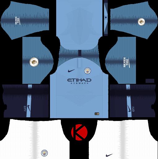 Manchester City 2018/19 Kit - Dream League Soccer Kits