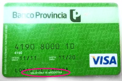 tarjeta banco provincia solo valida en argentina airbnb cobra en dolares o pesos porque airbnb cobra en dolares