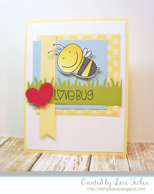 Lovebug card-designed by Lori Tecler/Inking Aloud-stamps from Paper Smooches