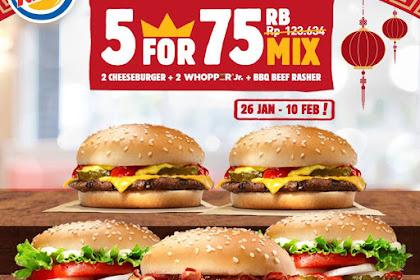 Harga Promo Burger King Terbaru Februari 2019