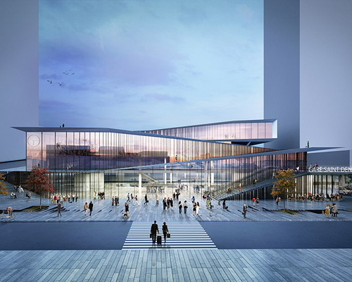 www.Tinuku.com Bjarke Ingels Group and Silvio d'Ascia Architecture won Paris metro station design competition