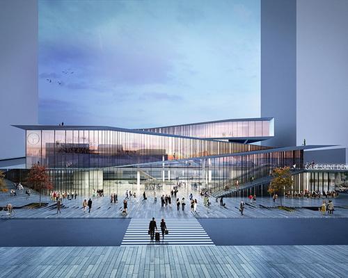 www.Tinuku.com Bjarke Ingels Group and Silvio d'Ascia Architecture won Paris metro station design competition