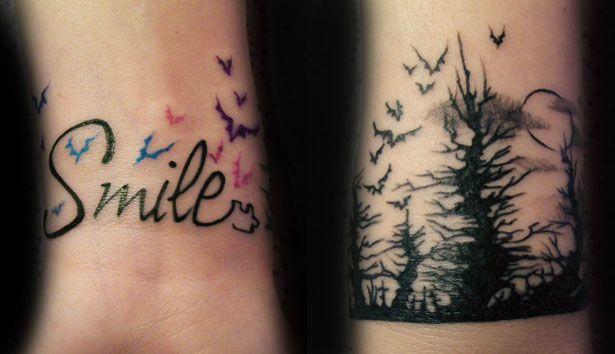 Tattoos Piercings Murales Craft Art Smile Y Bosque Tenebroso