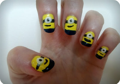 NOTD: Minion Nails by Lauren at Mega Beauty