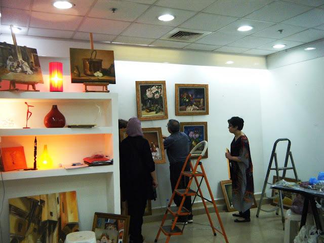 Préparatifs de l'expo de l'atelier artémisia 16