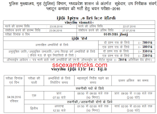 mp police asi exam date