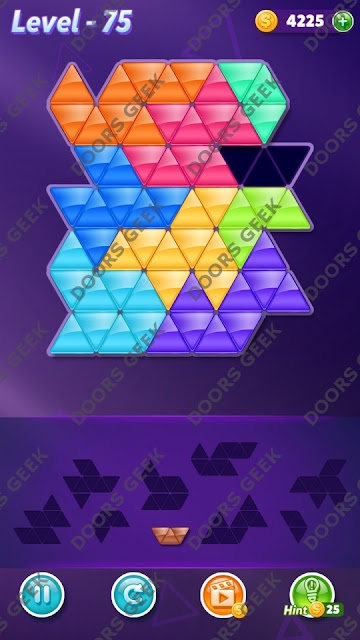 Block! Triangle Puzzle Proficient Level 75 Solution, Cheats, Walkthrough for Android, iPhone, iPad and iPod