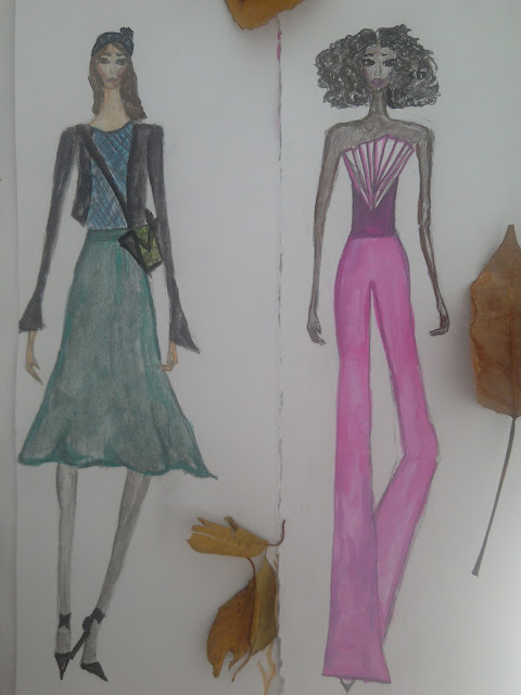 #modaodaradosti #fashionillustration #moda #watercolour #pencildrawing