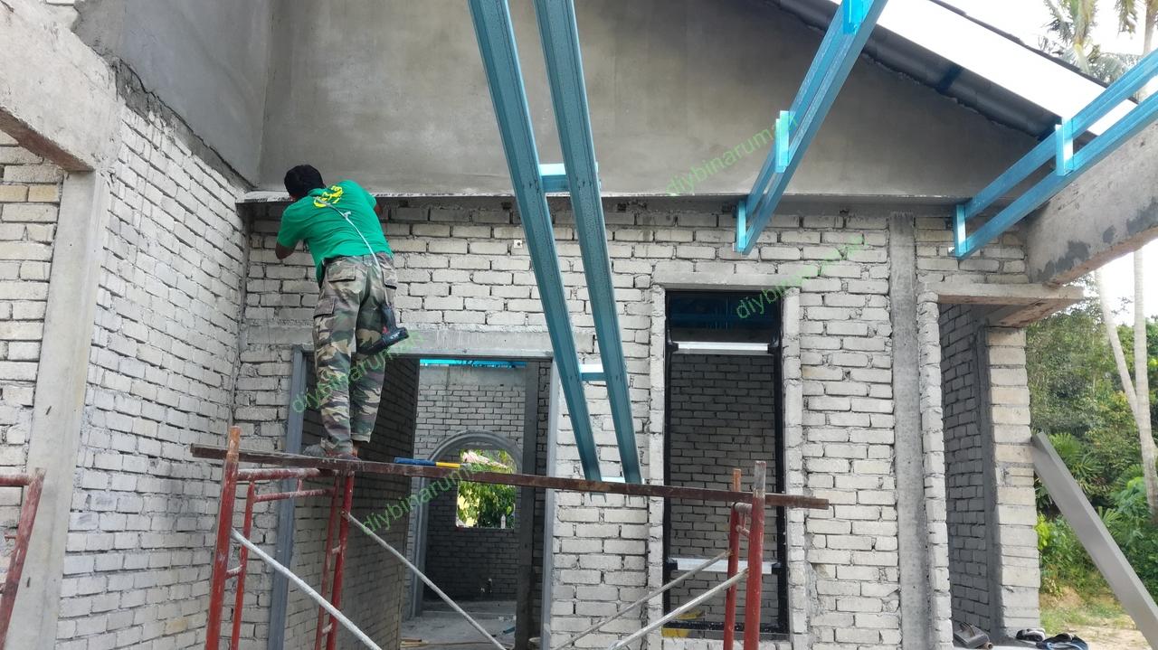 Kerangka Dan Atap Zink Bina Rumah Diy
