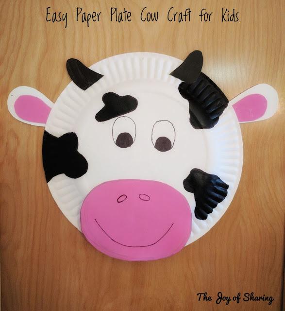 Paper Plate Craft, Animal Craft, Easy Craft, Kids Crafts, Cow Craft
