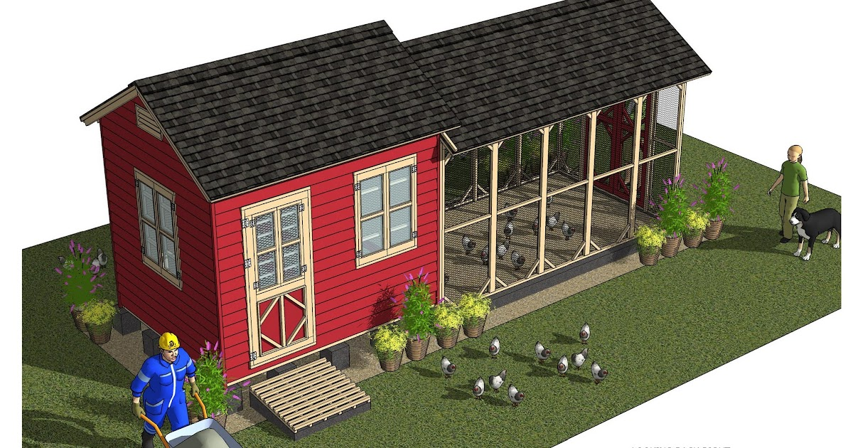 Home garden plans cb211 combo chicken coop garden for Shed and playhouse combo plans