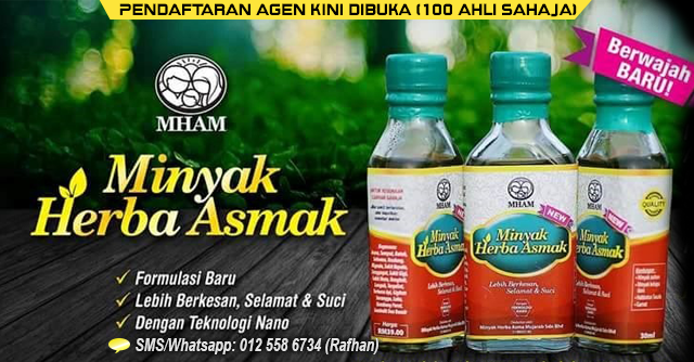 Pendaftaran Agen Minyak Herba Asma Mujarab, minyak herba asmak