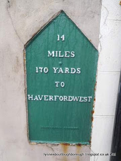 Milestone at Fishguard