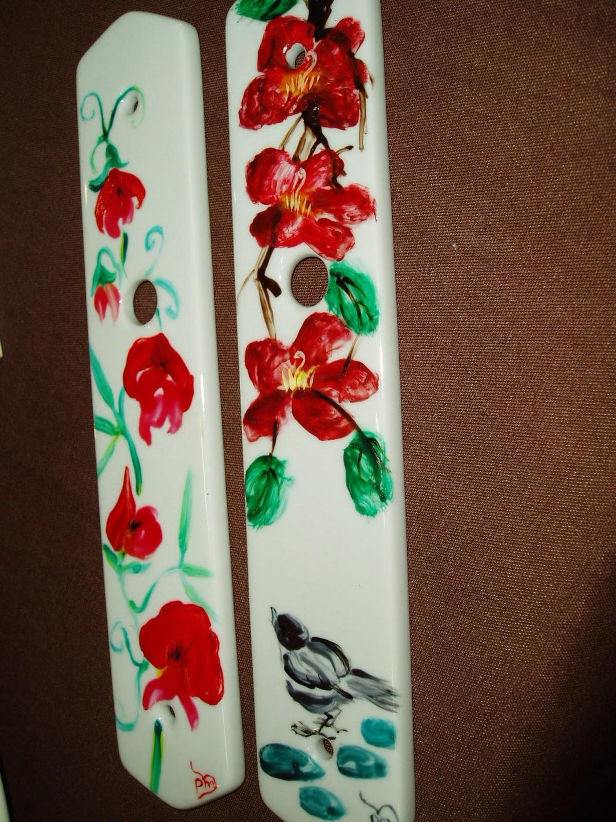 plume magicienne peinture chinoise xieyi sur porcelaine plaque de propret pour porte. Black Bedroom Furniture Sets. Home Design Ideas
