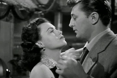 Faith Domergue, Robert Mitchum Where Danger Lives (1950)