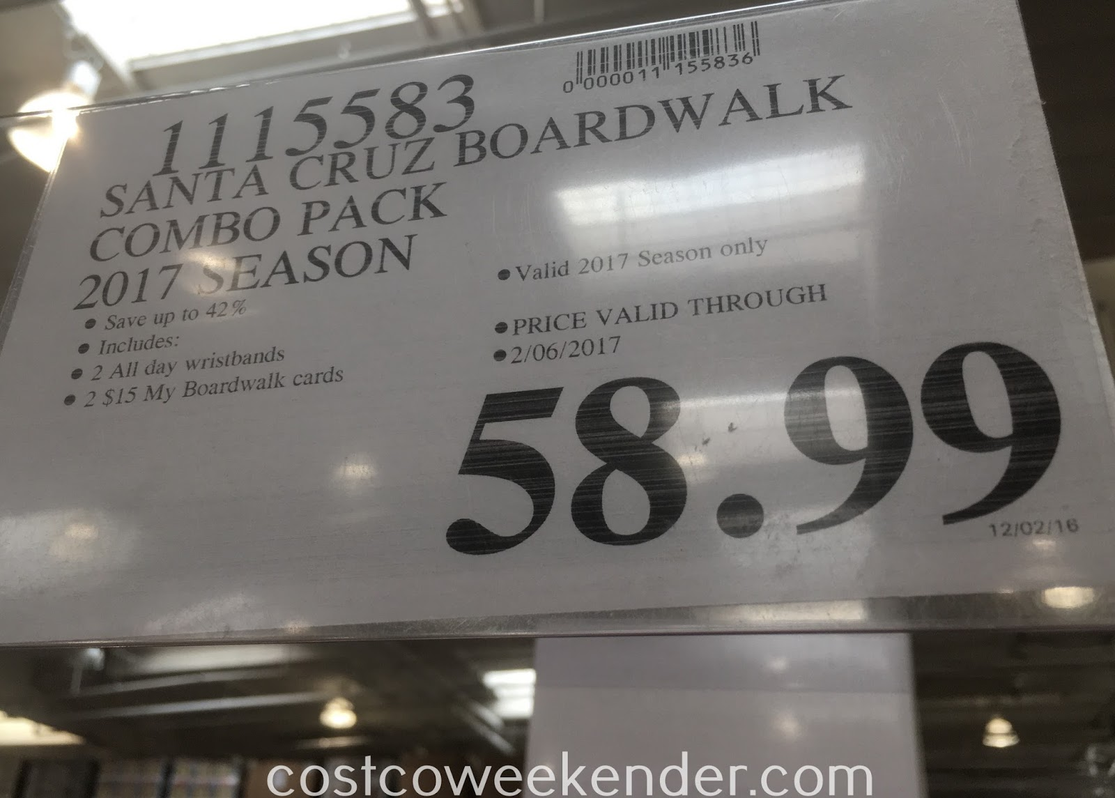Deal for 2 Rides + Attractions Combos for Santa Cruz Beach Boardwalk at Costco