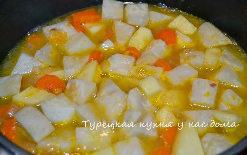 сельдерей с овощами и мандариновым соком