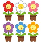 いろいろな鉢植の花のキャラクター